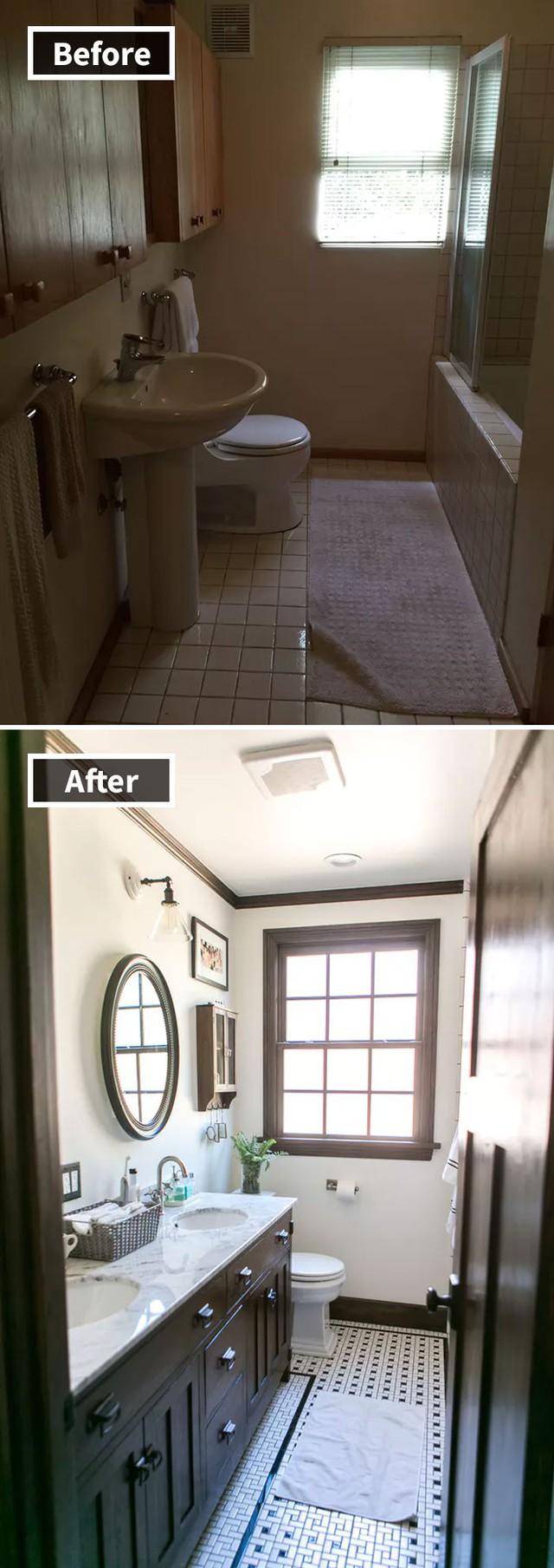 Những hình ảnh trước và sau khi phòng cũ được phù phép thành phòng mới khiến quý khách chẳng thể tin vào mắt mình - Ảnh 18.