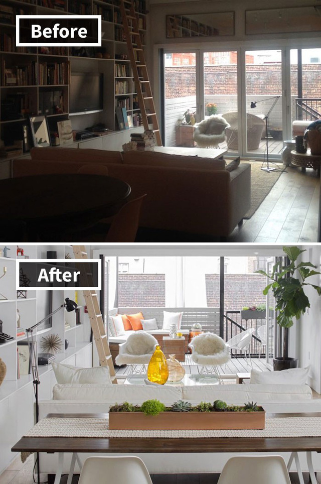 Những hình ảnh trước và sau khi phòng cũ được phù phép thành phòng mới khiến quý khách chẳng thể tin vào mắt mình - Ảnh 20.