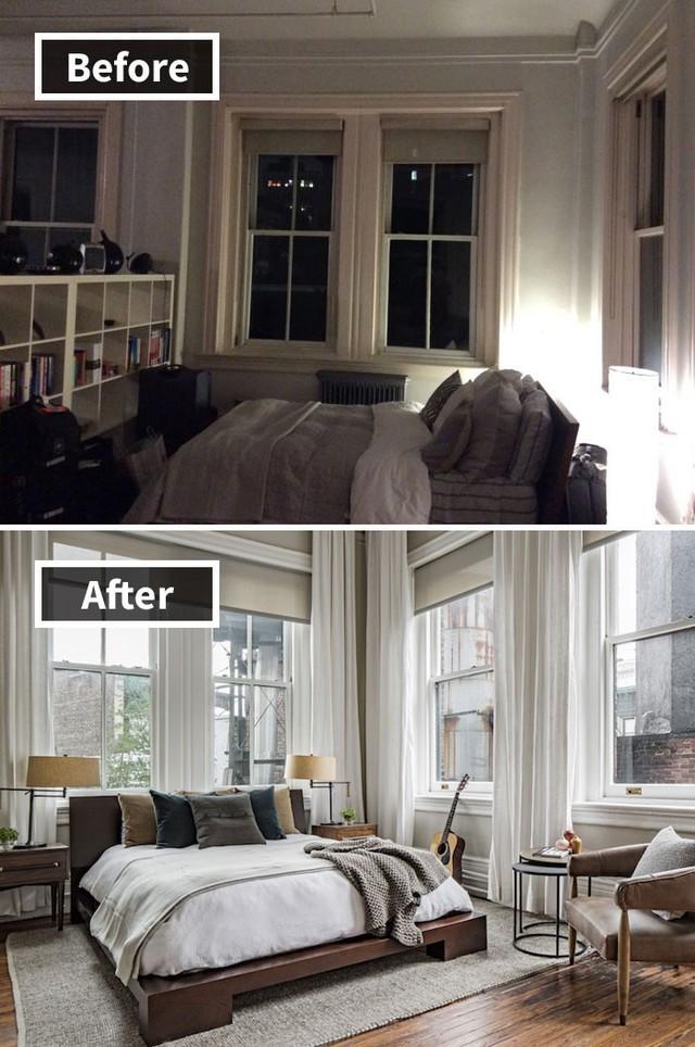 Những hình ảnh trước và sau khi phòng cũ được phù phép thành phòng mới khiến quý khách chẳng thể tin vào mắt mình - Ảnh 9.