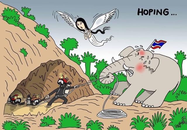 đầu tư giá trị - photo 5 1531131673814356372350 - Những bức tranh dễ thương và ý nghĩa của dân mạng về hành trình giải cứu đội bóng Thái mắc kẹt