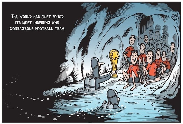 đầu tư giá trị - photo 9 15311316738201764798098 - Những bức tranh dễ thương và ý nghĩa của dân mạng về hành trình giải cứu đội bóng Thái mắc kẹt