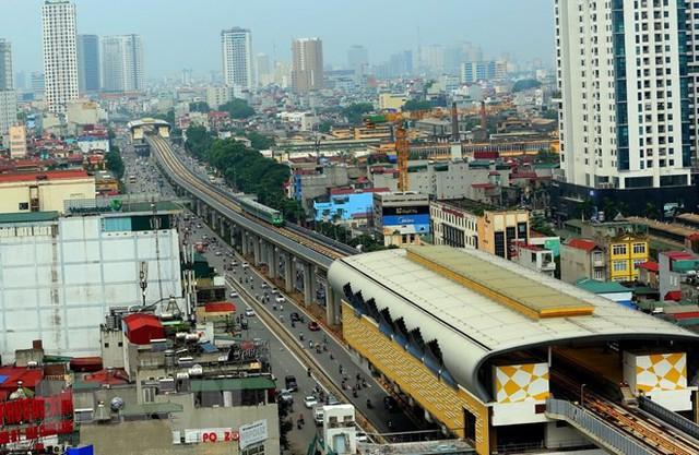 Cận cảnh chạy thử đoàn tàu tuyến đường sắt đô thị Cát Linh-Hà Đông - Ảnh 5.