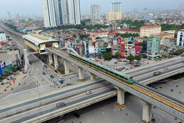 Cận cảnh chạy thử đoàn tàu tuyến đường sắt đô thị Cát Linh-Hà Đông - Ảnh 7.