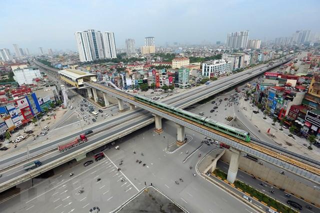 Cận cảnh chạy thử đoàn tàu tuyến đường sắt đô thị Cát Linh-Hà Đông - Ảnh 8.