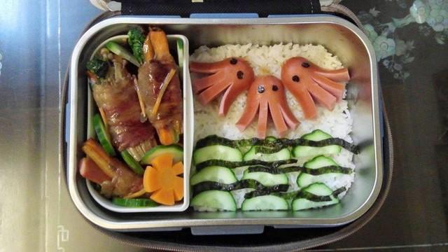 Vợ chuẩn bị đồ ăn vừa ngon vừa bắt mắt, anh chồng mắc cỡ chỉ dám len lén mở ra vào mỗi bữa trưa - Ảnh 10.