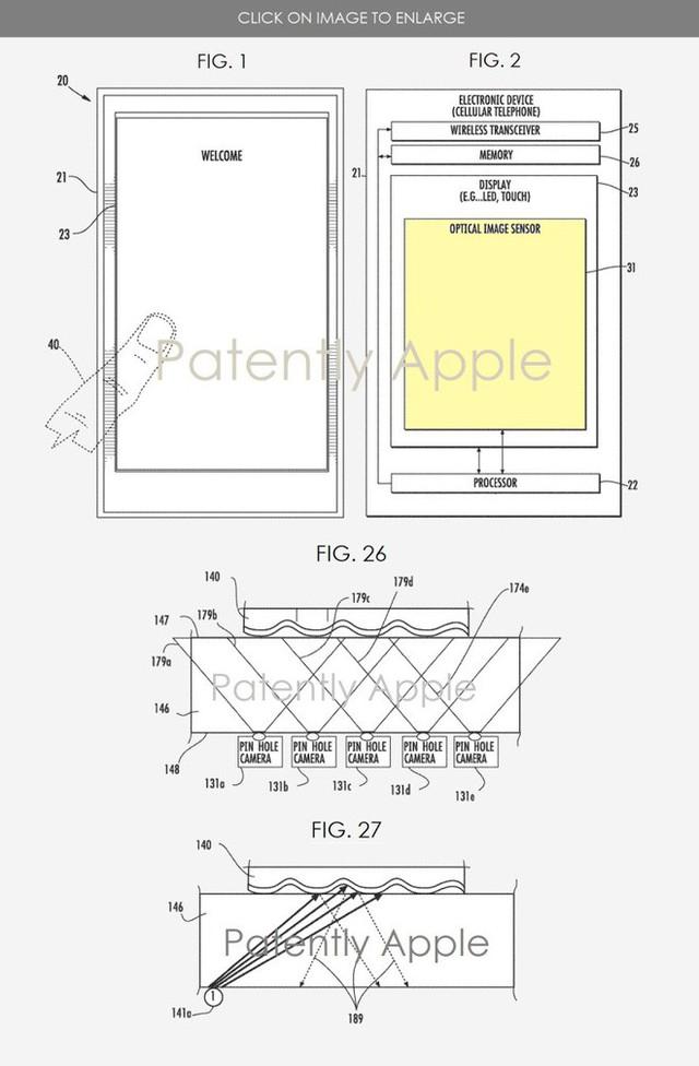 Apple sở hữu sáng chế cảm biến vân tay dưới màn hình cực kỳ tiên tiến cho iPhone, chạm vào đâu cũng có thể mở được - Ảnh 1.