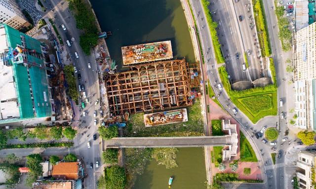 Chùm ảnh: Toàn cảnh sự bất động của loạt công trình chống ngập ở Sài Gòn vì... thiếu vốn, không còn bóng công nhân - Ảnh 1.
