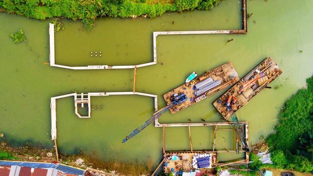Chùm ảnh: Toàn cảnh sự bất động của loạt công trình chống ngập ở Sài Gòn vì... thiếu vốn, không còn bóng công nhân - Ảnh 10.