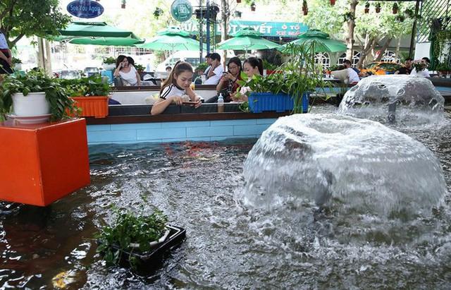 Trải nghiệm uống cà phê giữa hồ cá Koi tiền tỉ ở Sài Gòn - Ảnh 4.