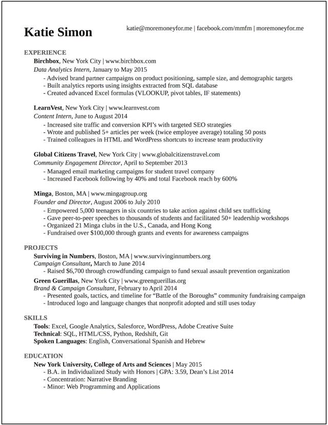 Nhờ có bản CV này, tôi đã lọt vào vòng phỏng vấn của Google, BuzzFeed và 20 công ty khởi nghiệp hàng đầu khác - Ảnh 1.