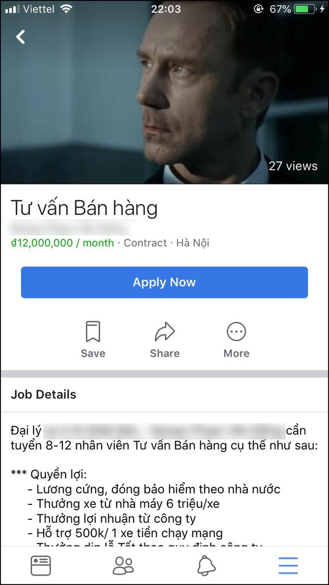 Facebook Việt Nam mới có mục tìm việc nhanh: Nghề chuẩn sinh viên không thiếu, thông tin liên hệ làm việc dễ dàng - Ảnh 4.