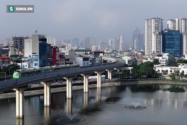 13 đoàn tàu đường sắt Cát Linh - Hà Đông đang chạy thử trong sáng nay - Ảnh 13.