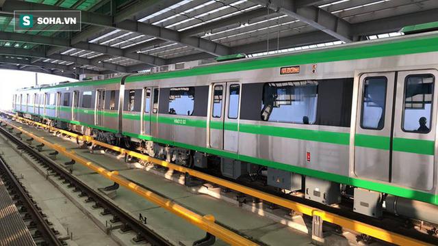 13 đoàn tàu đường sắt Cát Linh - Hà Đông đang chạy thử trong sáng nay - Ảnh 9.