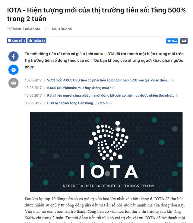 Nhà sáng lập đồng tiền số từng gây hiện tượng tăng trưởng 500% chỉ trong 2 tuần: IOTA sẽ vào top 3 đồng tiền hàng đầu trong năm 2018! - Ảnh 3.