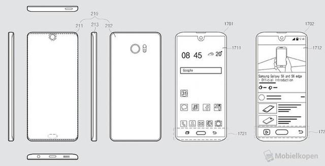 Samsung đang nghiên cứu để học tập và làm theo thiết kế tai thỏ của iPhone X - Ảnh 2.