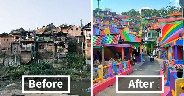 Từ một khu ổ chuột, ngôi làng này đã lột xác thành vùng đất rực rỡ sắc màu cầu vồng, thu hút hàng nghìn khách du lịch tham quan - Ảnh 3.