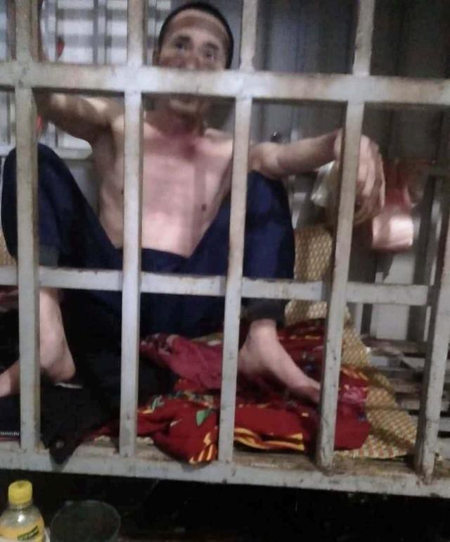 Vụ chồng bị vợ nhốt vào lồng sắt ở Thanh Hóa: Xuất hiện nhiều tình tiết mới khó tin - Ảnh 1.