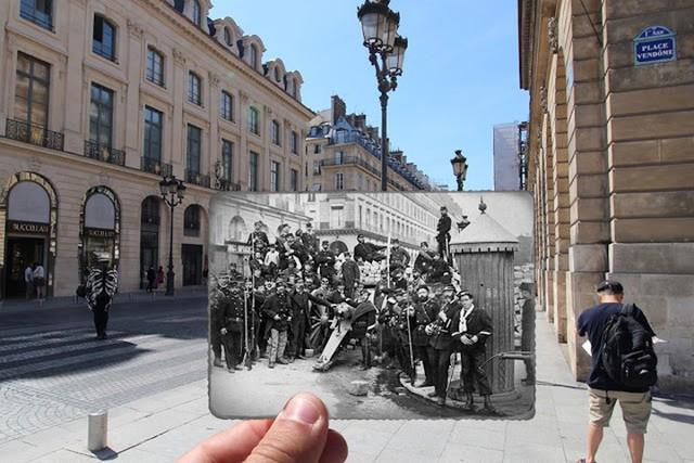 """Những bức ảnh """"xuyên thời gian"""" tái hiện Paris xưa và nay đầy sáng tạo - Ảnh 1."""