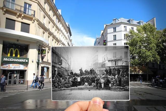 """Những bức ảnh """"xuyên thời gian"""" tái hiện Paris xưa và nay đầy sáng tạo - Ảnh 2."""