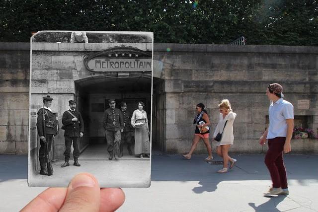 """Những bức ảnh """"xuyên thời gian"""" tái hiện Paris xưa và nay đầy sáng tạo - Ảnh 13."""