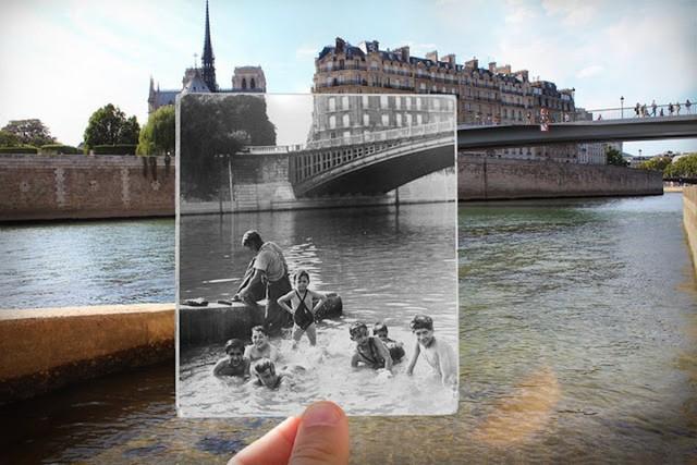 """Những bức ảnh """"xuyên thời gian"""" tái hiện Paris xưa và nay đầy sáng tạo - Ảnh 14."""