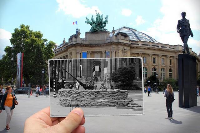 """Những bức ảnh """"xuyên thời gian"""" tái hiện Paris xưa và nay đầy sáng tạo - Ảnh 19."""