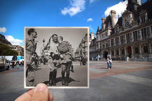 """Những bức ảnh """"xuyên thời gian"""" tái hiện Paris xưa và nay đầy sáng tạo - Ảnh 20."""