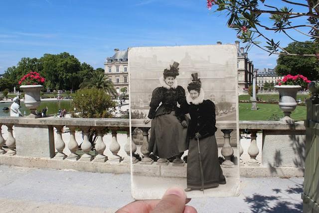 """Những bức ảnh """"xuyên thời gian"""" tái hiện Paris xưa và nay đầy sáng tạo - Ảnh 4."""