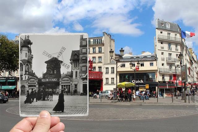 """Những bức ảnh """"xuyên thời gian"""" tái hiện Paris xưa và nay đầy sáng tạo - Ảnh 5."""