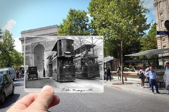 """Những bức ảnh """"xuyên thời gian"""" tái hiện Paris xưa và nay đầy sáng tạo - Ảnh 10."""