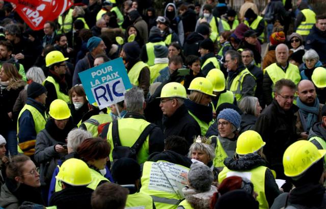 Biểu tình 'Áo vàng' tuần thứ 9 liên tiếp ở Pháp, 84.000 người xuống đường - Ảnh 5.