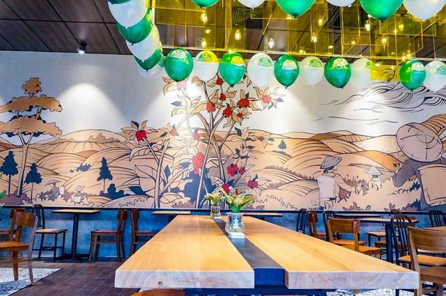 Chuỗi Phúc Long đã chính thức Bắc tiến, cửa hàng đầu tiên tại Hà Nội đặt ngay kế bên 2 đại gia Starbucks và Highlands Coffee - Ảnh 3.