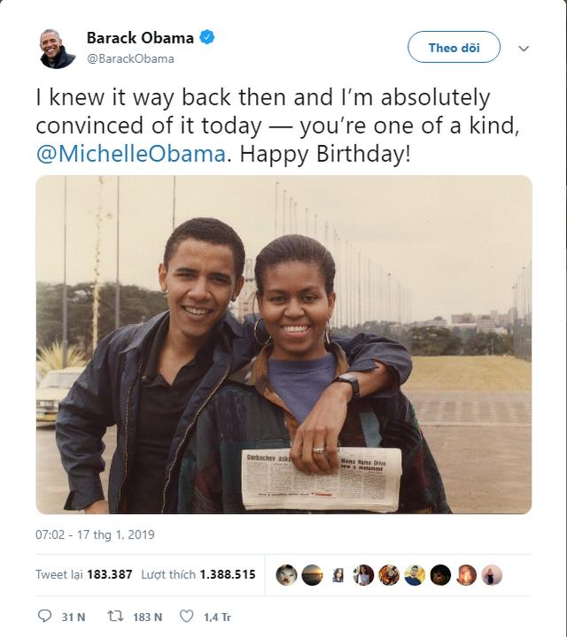 Sông có thể cạn, núi có thể mòn nhưng tình yêu của Tổng thống Obama dành cho vợ không bao giờ thay đổi! - Ảnh 1.