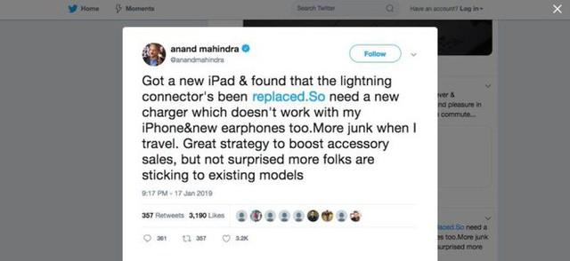 Ngay cả tỷ phú cũng ngại việc phải mua thêm phụ kiện của Apple - Ảnh 1.