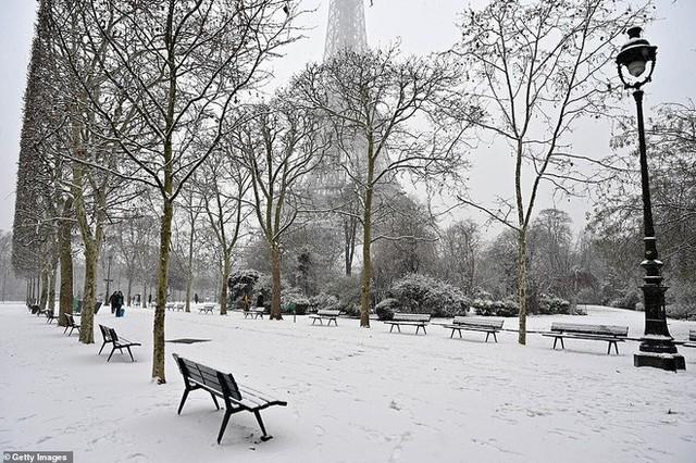Paris đón tuyết đầu mùa sau nhiều tuần căng thẳng: Kẻ lãng mạn xuống phố, người cô đơn chống chọi giá rét - Ảnh 4.