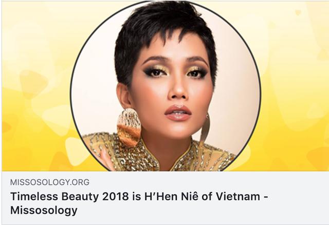 NÓNG: HHen Niê vượt mặt Hoa hậu Venezuela, trở thành Hoa hậu đẹp nhất thế giới - Ảnh 1.