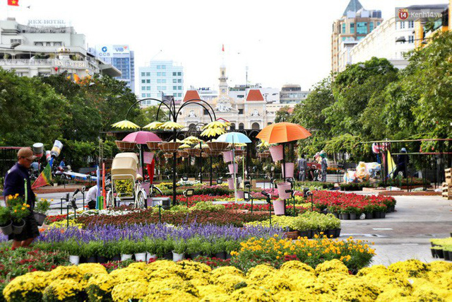 Cận cảnh đường hoa Nguyễn Huệ ở Sài Gòn trước giờ khai mạc đón Tết Kỷ Hợi 2019 - Ảnh 15.