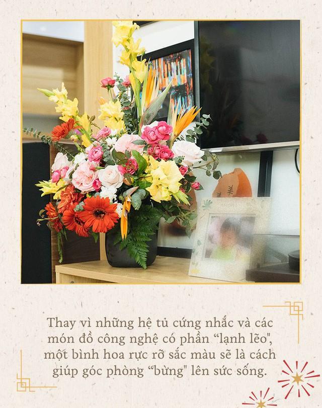 Mẹ 8x Hà Nội hướng dẫn 3 cách dùng hoa truyền thống, giá dưới 500 ngàn để trang trí nhà đón Tết - Ảnh 10.