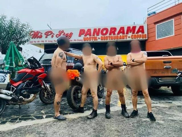 Trưởng Công an huyện Mèo Vạc nói về việc xử lý nhóm đàn ông khỏa thân, làm lố ở Mã Pí Lèng  - Ảnh 1.