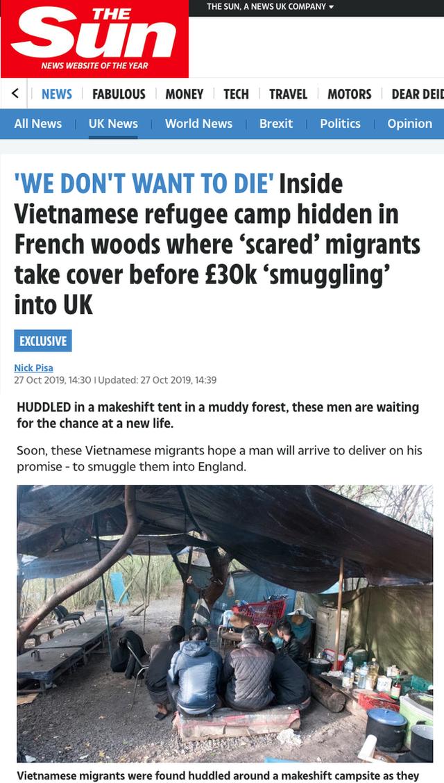 Báo Anh phỏng vấn 13 người Việt ở Pháp chờ nhập cư trái phép vào Anh: Lo sợ sẽ chết như 39 người trong container nhưng vẫn kiên quyết đi đến cùng - Ảnh 1.