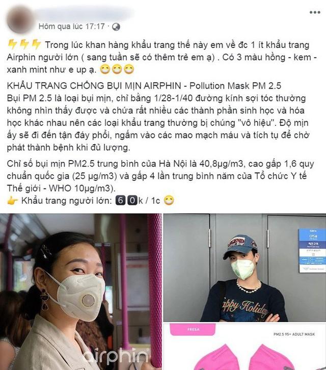 Người Hà Nội bỏ tiền triệu mua khẩu trang xịn và máy lọc không khí, xuất hiện nhiều lời chào hàng chưa kiểm định trên MXH - Ảnh 10.