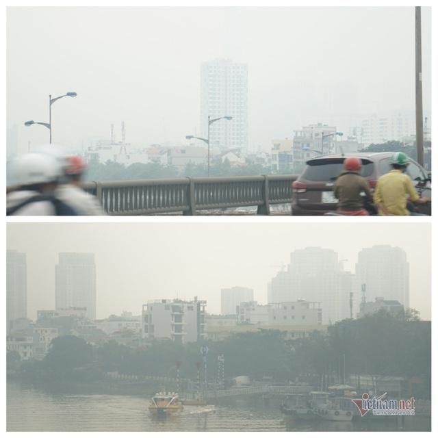 Mù kín đặc vây Sài Gòn, cảnh báo ô nhiễm ở mức nguy hiểm - Ảnh 12.