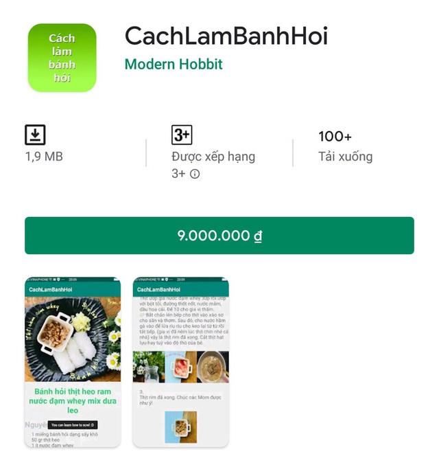 Ứng dụng rác giá 9 triệu đồng tràn ngập Play Store Việt Nam, lập trình viên thu lời hàng trăm triệu đồng? - Ảnh 3.