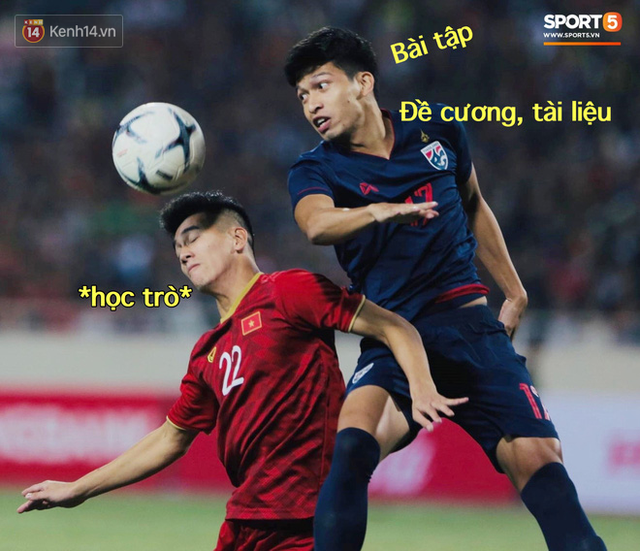 Loạt ảnh chế màn tranh chấp căng thẳng giữa các cầu thủ Việt Nam và Thái Lan: Lẩu gì mà cay cay thế xin thưa rằng lẩu Thái - Ảnh 5.