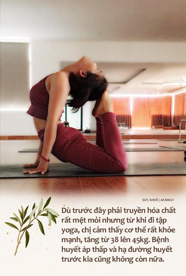 Vượt qua trầm cảm sau cú sốc con gái qua đời rồi phải đối diện với ung thư vòm họng khi 35 tuổi, mẹ đơn thân đi viện mổ một mình, sống vui vẻ, bỏ việc ổn định để làm HLV yoga - Ảnh 7.