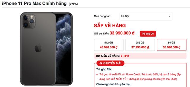 iPhone 11 Pro Max cháy hàng tại Việt Nam dù giá cao - Ảnh 3.