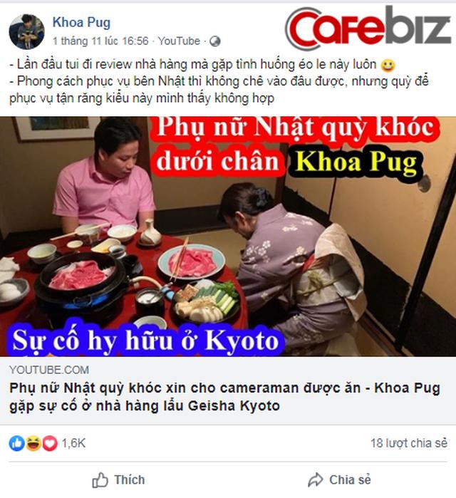Khoa Pug bị tố dựng chuyện, vi phạm luật pháp Nhật Bản khi đăng clip Phụ nữ Nhật quỳ khóc xin cho cameraman được ăn - Ảnh 1.