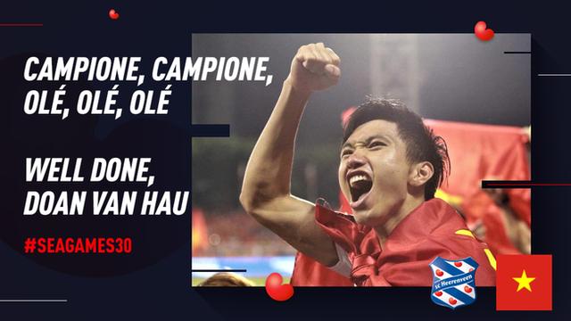 Góc tự hào: CLB của Đoàn Văn Hậu ở Hà Lan gửi lời chúc mừng U22 Việt Nam giành chiến thắng tại SEA Games 30 bằng tiếng Việt: Vô địch! Chúc mừng! - Ảnh 6.