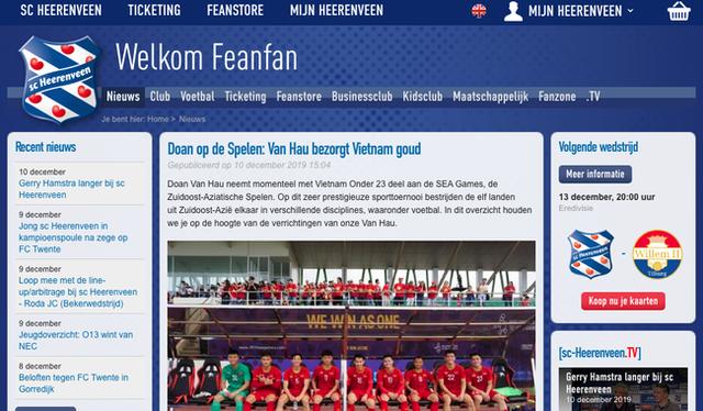 Góc tự hào: CLB của Đoàn Văn Hậu ở Hà Lan gửi lời chúc mừng U22 Việt Nam giành chiến thắng tại SEA Games 30 bằng tiếng Việt: Vô địch! Chúc mừng! - Ảnh 7.
