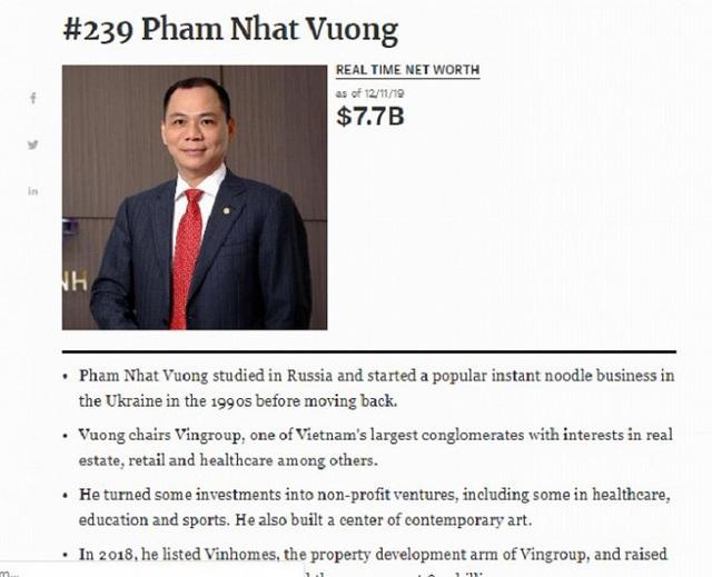 Tỷ phú USD Phạm Nhật Vượng tiếp tục giàu nhất Việt Nam - Ảnh 1.